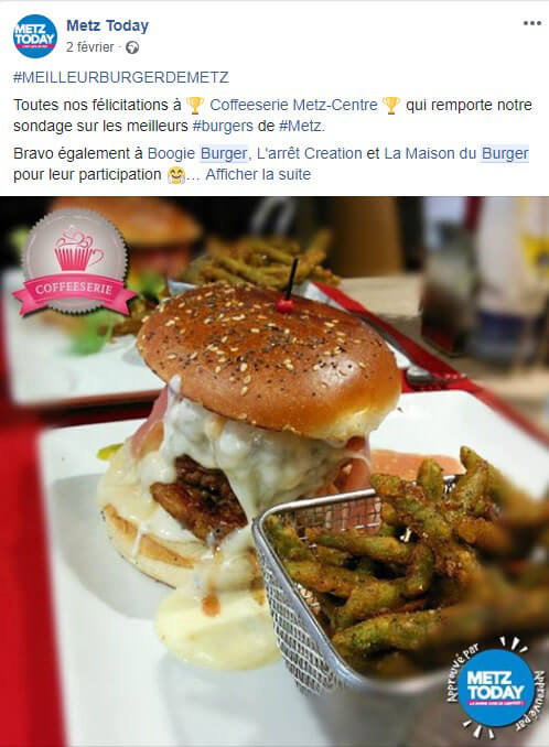 MetzToday meilleur burger 2018